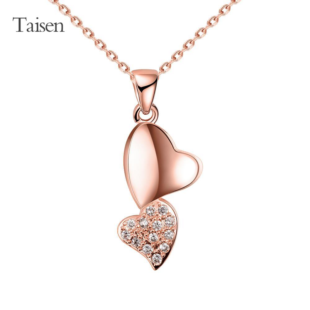 dresses 2016 necklace women jewelry findings rose gold necklace decoration love heart pendants for friends accesories for women(China (Mainland))