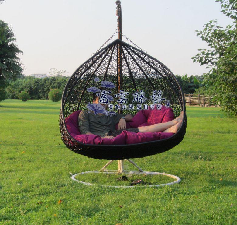 Innen und outdoor schaukelstuhl vogelnest blumenampel for Schaukelstuhl outdoor rattan