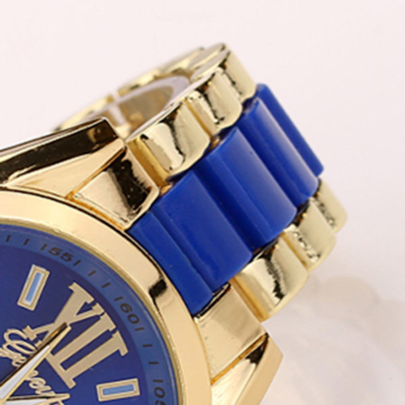 V1NF Fashion Stainless Steel Analog Geneva Watch Women Men Watches Quartz Wristwatch Free Shipping
