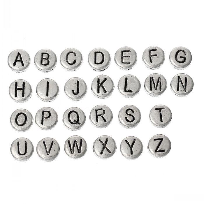 Lettere Cinesi Alfabeto: Acquista All'ingrosso Online Argento Alfabeto Lettere Da