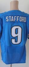 100% Stitched Men's #9 Stafford 20 Sanders 81 Johnson Elite Jerseys Blue White Jersey Size:M L XL XXL XXXL,Best Quality(China (Mainland))