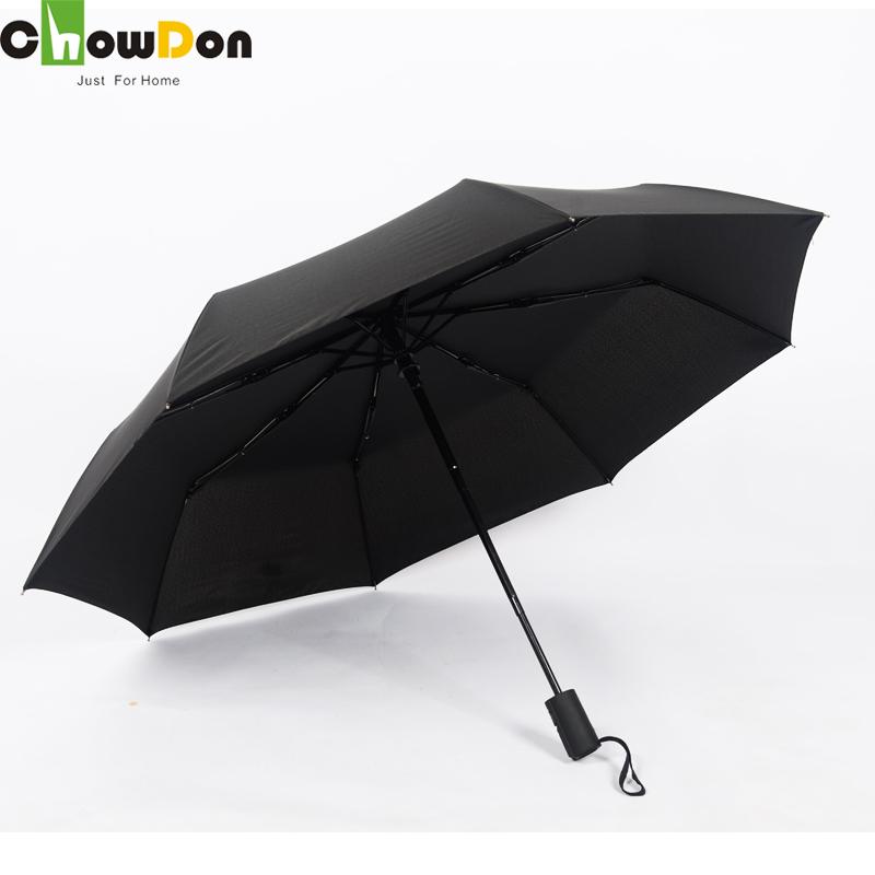 ChowDon High Quality Multi Use Sunny Rainy Umbrella Designer Fully Automatic Three Fold Business Super Large Pure Color Umbrella(China (Mainland))