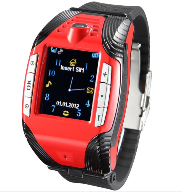 """Unlocked GSM F3 Watch Cell Mobile Phone 1.3"""" Touch Screen Camera Bluetooth Sports Pointer Triband Mp3 Mp4 Player Free Shipping(China (Mainland))"""