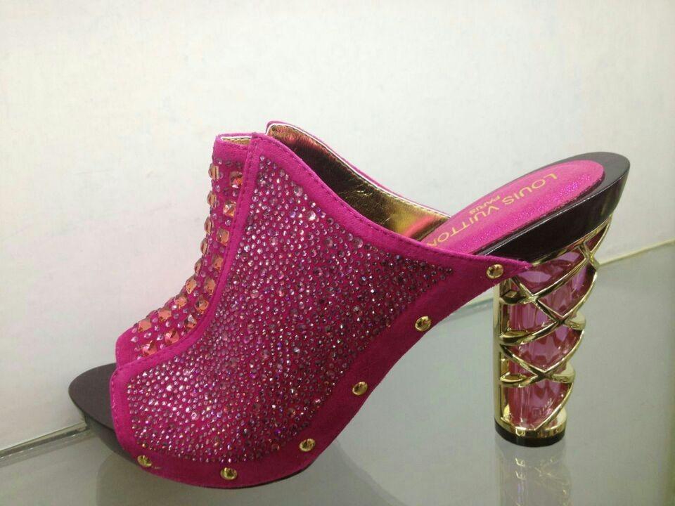MD062-4 Fuchsia Fashion Woman Shoes African Open Toe Women Pumps In Stock(China (Mainland))