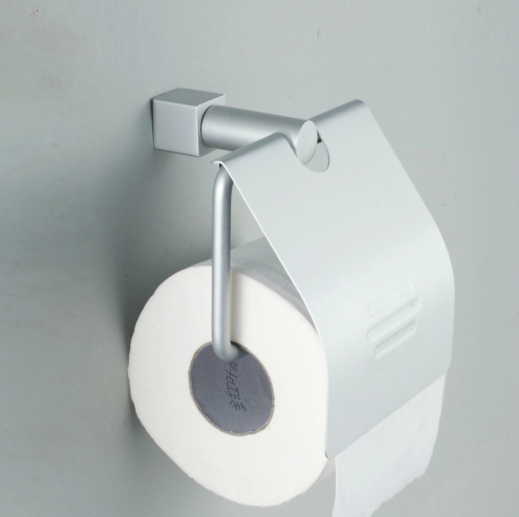 Space aluminum shelf towel rack toilet paper holder for Placement of toilet paper holders in bathrooms