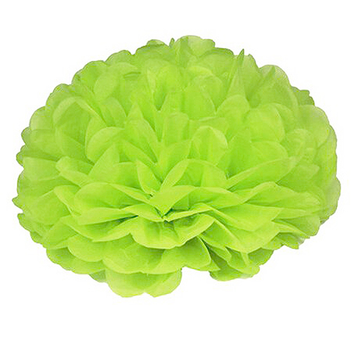 Boutique 15pcs 25cm(10inch) Tissue Paper Wedding Party Decor Craft Paper Flower For Wedding Decoration Apple green(China (Mainland))