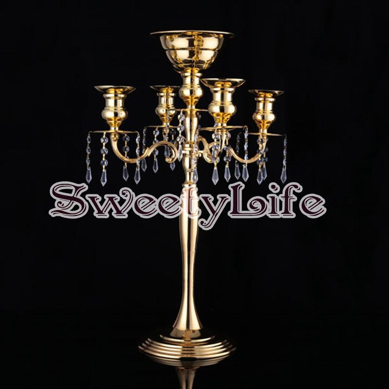cm de alto florero de mesa de boda pieza central candelabros