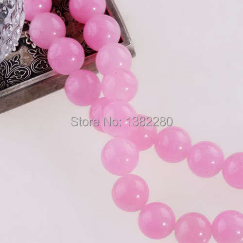 "Free shipping! Wholesale 8mm Pink Chalcedony Jasper Round Loose Beads 15"" 2 pieces/lot fashion jewelry JT5763(China (Mainland))"