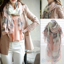 Voile Soft Long Scarf Women Eiffel Tower Printed Wrap Shawl Stole Scarves
