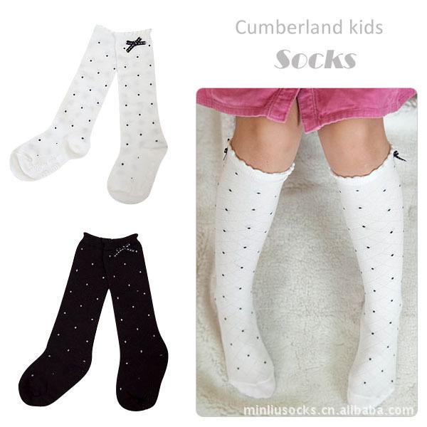 3 ~ 8 год лук и точка детские носки, детские носки хлопок трубка носки для мальчиков ...