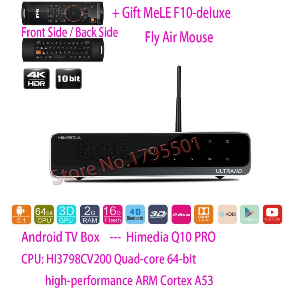 HiMedia Q10 PRO 3D 4K UltraHD Smart Android 5.1 TV Box 2GB/ 16GB HDMI 2.0 Bluetooth 4.0 Dual WiFi & HDD Bay DTS DOLBY Play Store(China (Mainland))
