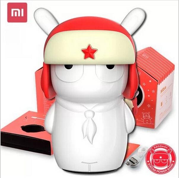 Original xiaomi mi 5200mah External Battery Pack rabbit cartoon doll MITU power bank with LED power indicator for smartphone