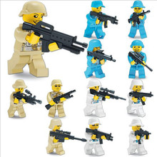 Boys Favorite !! 12pcs/lot Heroic Soldiers Minifigures Assembly Building Blocks Toy Action Figure Toy