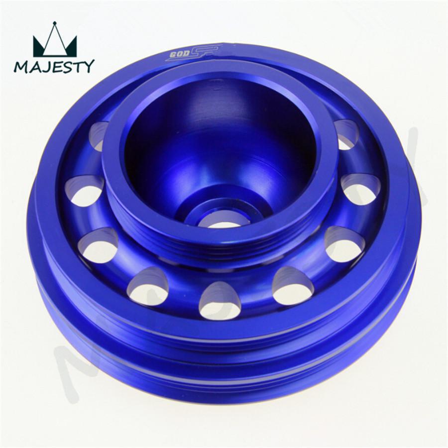Купить Гонки Облегченный Алюминиевый Шкив Коленчатого Вала OEM Размер 92-95 Ci вмц D16 SOHC синий