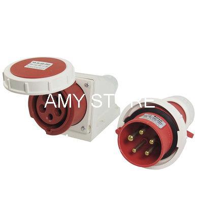 IP67 4 Pin IEC309-2 Panel Mounting Plug AC 220-380V 240-415V 16A<br><br>Aliexpress