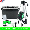 KaiTian 3D Green Laser Level Tripod with Tilt Slash Function and 360 Rotary Self Leveling Outdoor