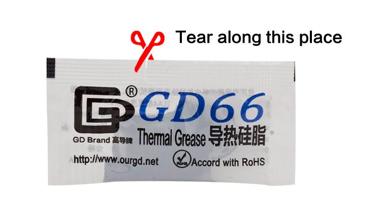 10 шт GD66 теплопроводная Смазка Вставить Кремниевая паста для светодиодный чип 1_03