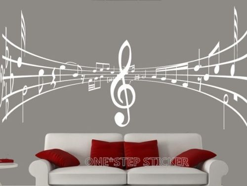 D426 Home Decoration Wall Paper ; Art viny removable Sticker WS46 Music notes(China (Mainland))