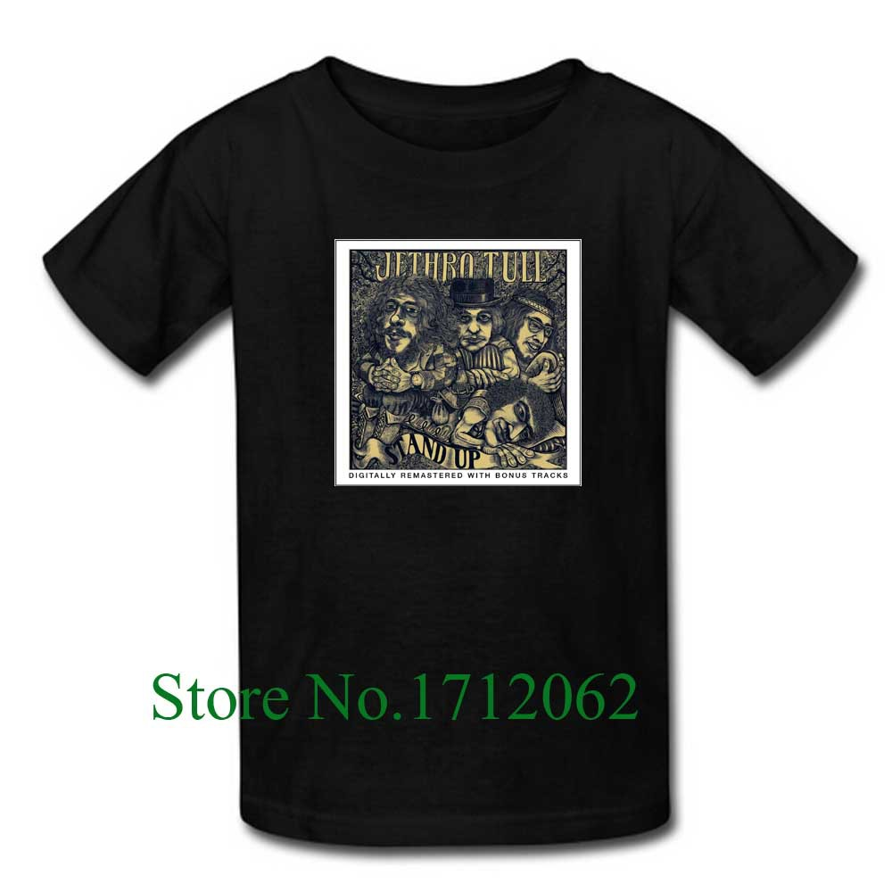 Custom Crazy Stand Up Jethro Tull Men's T-Shirt Classic Short Sleeve Size M-3XL Tshirt(China (Mainland))