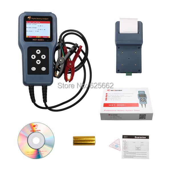 Mst-8000 + батарея цифровой инструмент MST-8000 плюс аккумулятор тестер инструмент с принтером MST8000 +