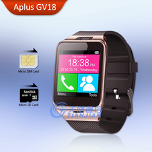 Smart Watch Health Pedometer Mp3 Waterproof Bluetooth Android Gv18 Smartwatch with SIM Card Mobile GSM Wearable Device Phone