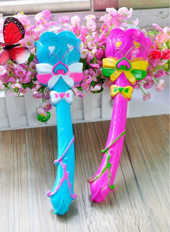 Music Fairy Magic Wand Stick LED Toy for Kids Pretty Butterfly Plastic Singing Toy with Light(China (Mainland))