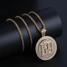 TOPGRILLZ Spinner 69 piła litery wisiorek naszyjnik mężczyźni Iced Out Cubic cyrkon łańcuchy Hip Hop/Punk złoty srebrny kolor piękna biżuteria(China)