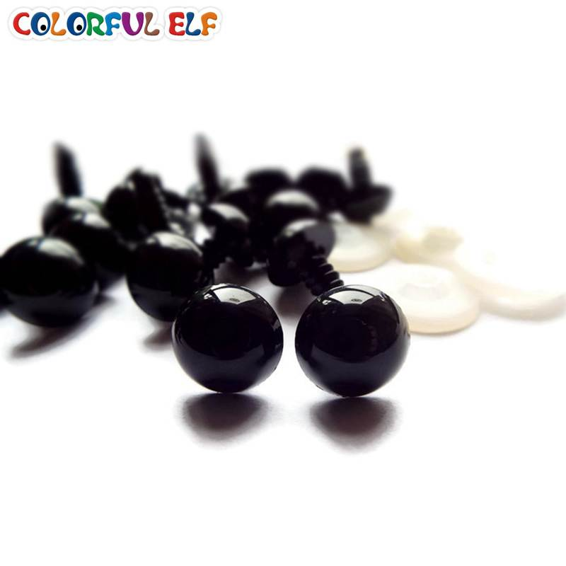 Wholesale 15mm 50Pairs Safety Black Eyes With Washers Fit For Teddy Bear Crochet /Stuffed /Amigurumi Doll(China (Mainland))