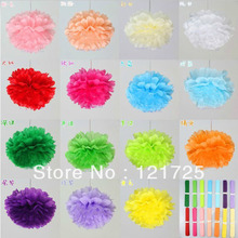 "10pcs 8""(20cm) Tissue Paper Pom poms artificial flowers ball for Wedding Birthday Party Decor Craft festival decoration(China (Mainland))"
