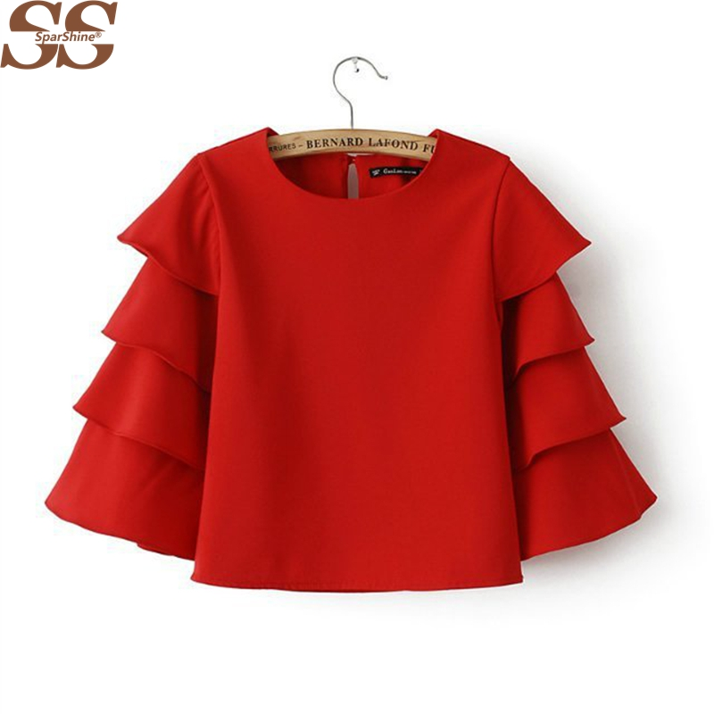 Compare Prices on Red Blouses- Online Shopping/Buy Low Price Red ...
