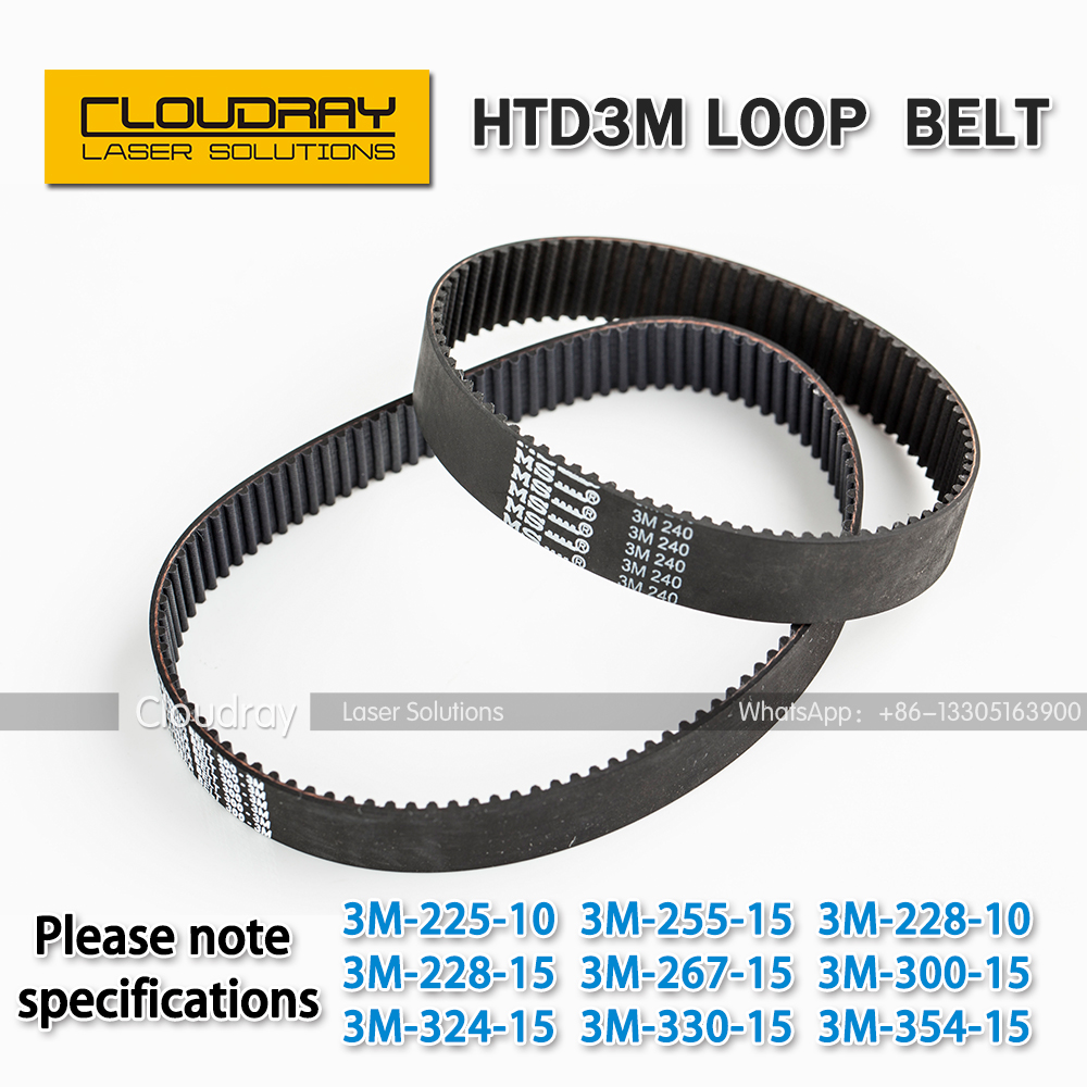 HTD 3M Closed Loop Belt Rubber Timing Belt Various specifications CO2 Laser Engraving Cutting Machine / 3D Printer