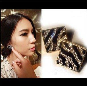 EX067 2016 new arrival crystal Earrings Black Zebra, leopard major suit oil earrings wholesale, welcome to place an order!<br><br>Aliexpress