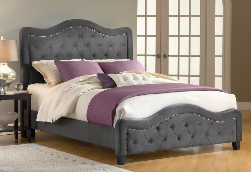 Bed frame with headboard and footboard 28 images for Tufted headboard queen bed frame