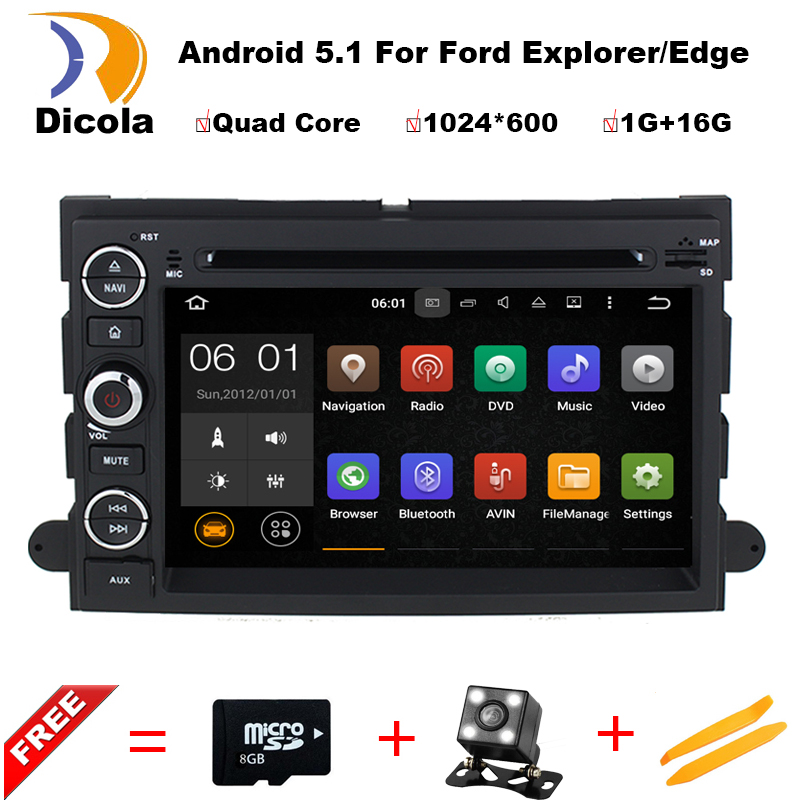 Android 5.1 1024*600 Car DVD For Ford F150 Mustang Expedition Explorer Fusion 2006 2007 - 2009 Quad Core GPS Navigation(China (Mainland))