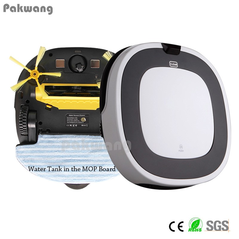 D5501 Automatic Wet Mop Robot Vacuum Cleaner Auto Recharge Floor Cleaning Powerful Suction LED Vacuum Wet and Dry Cleaner(China (Mainland))