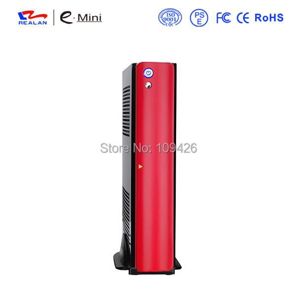 Realan UV Red Mini ITX Micro ATX Custom Desktop Computer PC Case E 2010B with Power Supply(China (Mainland))