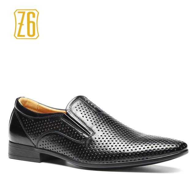 2016 новые люди одеваются обувь Z6 бренд дышащей летней кожаные плоские туфли # 8063