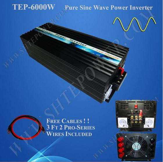 off grid pure sine wave dc ac 12v 220v power inverters 6000w(China (Mainland))