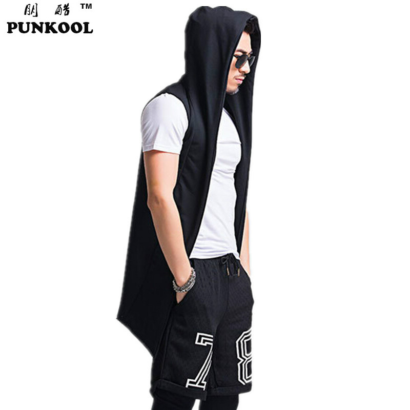 New Mens Fashion Sleeveless Vest Men Medium Long Style  Knitted Cargigan Sweater Casual hooded Sleeveless Knitting OuterwearОдежда и ак�е��уары<br><br><br>Aliexpress