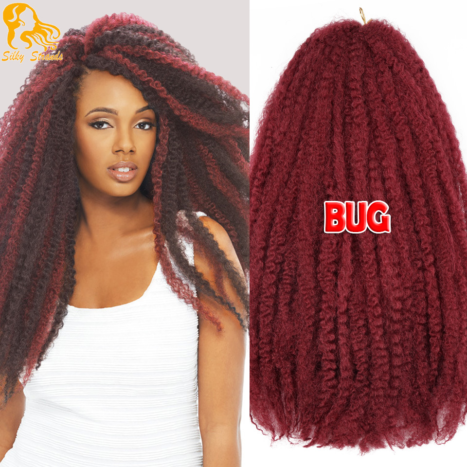 Crochet Braids European Hair : Marley Braiding Hair 18 Bulk Curly Crochet Synthetic Braids Hair ...
