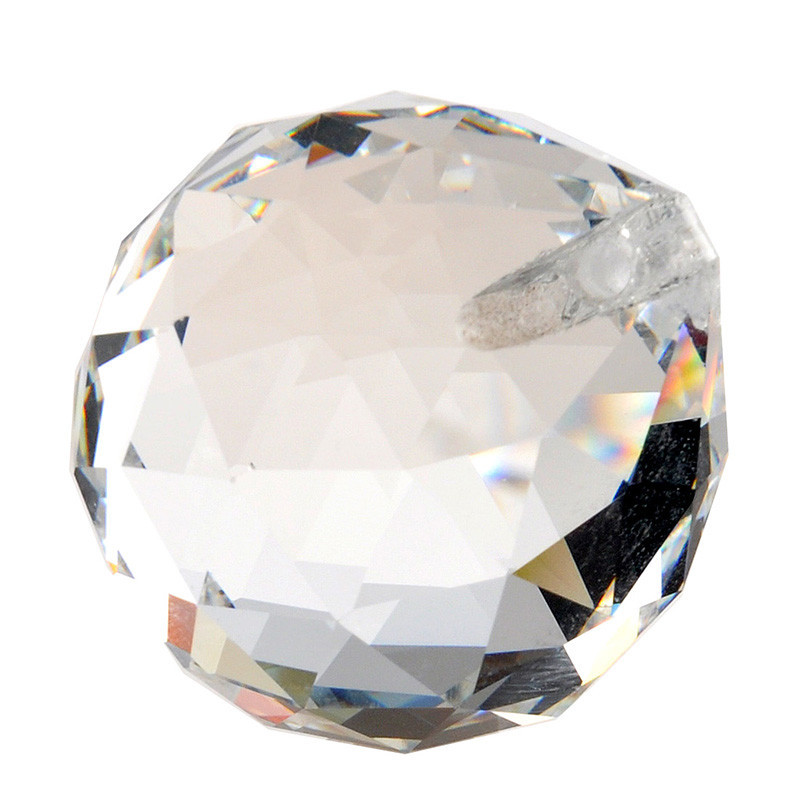 Clear 40mm Faceted Glass Crystal Ball Prism Chandelier Crystal Parts Hanging Pendant Lighting Ball Suncatcher Wedding Home Decor (7)