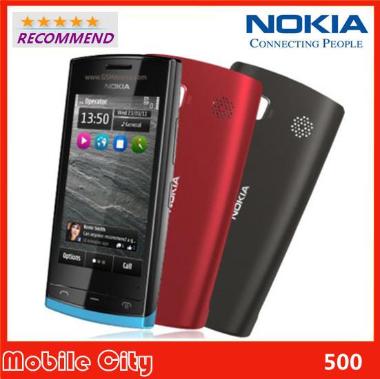 N500 Original Refurbished Nokia 500 Fate WIFI GPS 5MP 3.2''Touchscreen Unlocked Mobile Phone Free Shipping(China (Mainland))