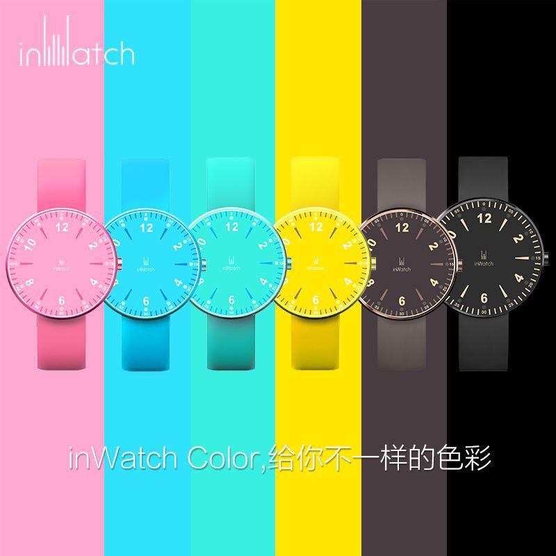 Цвет inWatch новый водонепроницаемый смарт носимых часы синхронизируются с iOS Android мобильного телефона шаг кольцо
