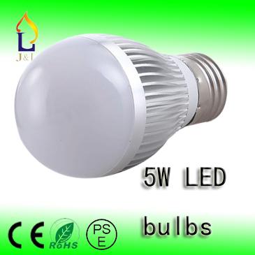 FEDEX Free shipping 5w LED bulb Bubble Ball Bulb AC85-265V ,E14 E27 B22 GU10,silver/gold shell color,warm/cool white,50pcs/lot(China (Mainland))
