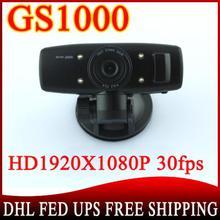 100 pcs GS1000 Car DVR with Full HD1920*1080P Accident Camera Night Vision 4 IR CPU NO GPS logger G-sensor(China (Mainland))