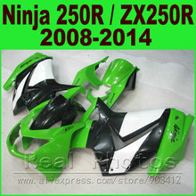 Buy Fit Ninja 250R Fairing kit 2008 2009 2010 2014 white green Kawasaki ZX 250 EX250 body kits 08 09 10 11 12 13 14 fairings set for $305.04 in AliExpress store