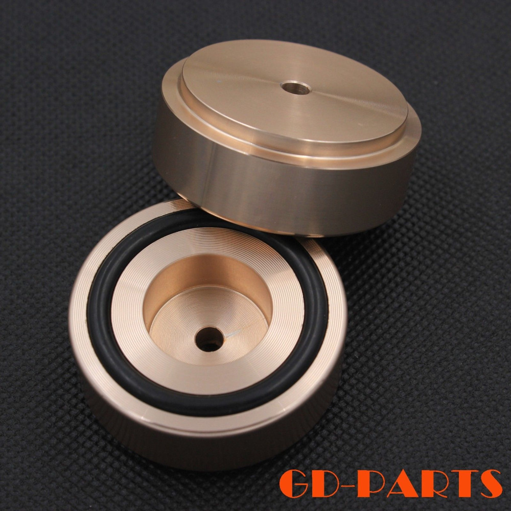 44*17mm Golden Anodized CNC Machined Solid Aluminumn Speaker Cabinet Stand Base Feet DAC CD Turntable Isolation Mat Pad<br><br>Aliexpress