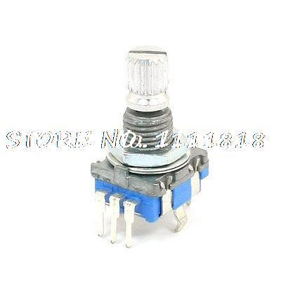 6mm Knurled Shaft 20 Position 360 Degree Rotary Encoder w Push Button Switch<br><br>Aliexpress