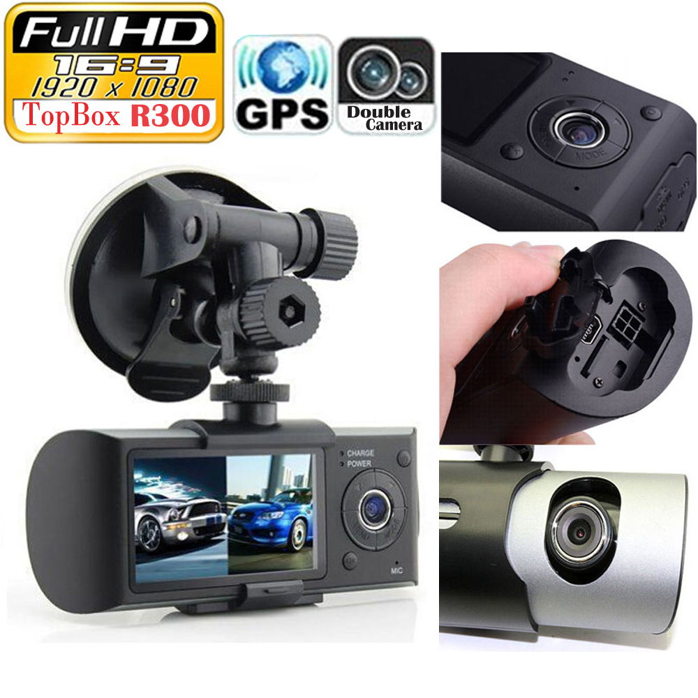 Dual Camera Car DVR with GPS and 3D G-Sensor 2.7 TFT LCD X3000<br><br>Aliexpress