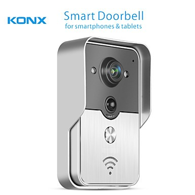 FKH Smart WiFi Video Doorbell for Smartphones & Tablets, Wireless Video Doorphone, IP Wi-Fi Camera